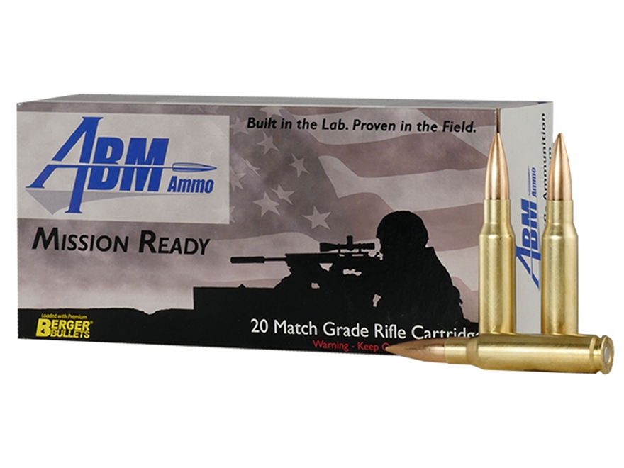 ABM Mission Ready-Tactical Ammunition 308 Winchester 175 Grain Berger Match OTM Tactica...