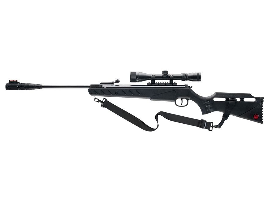 Ruger Targis Hunter Break Barrel Air Rifle 22 Caliber Pellet Black Polymer Stock Blued ...