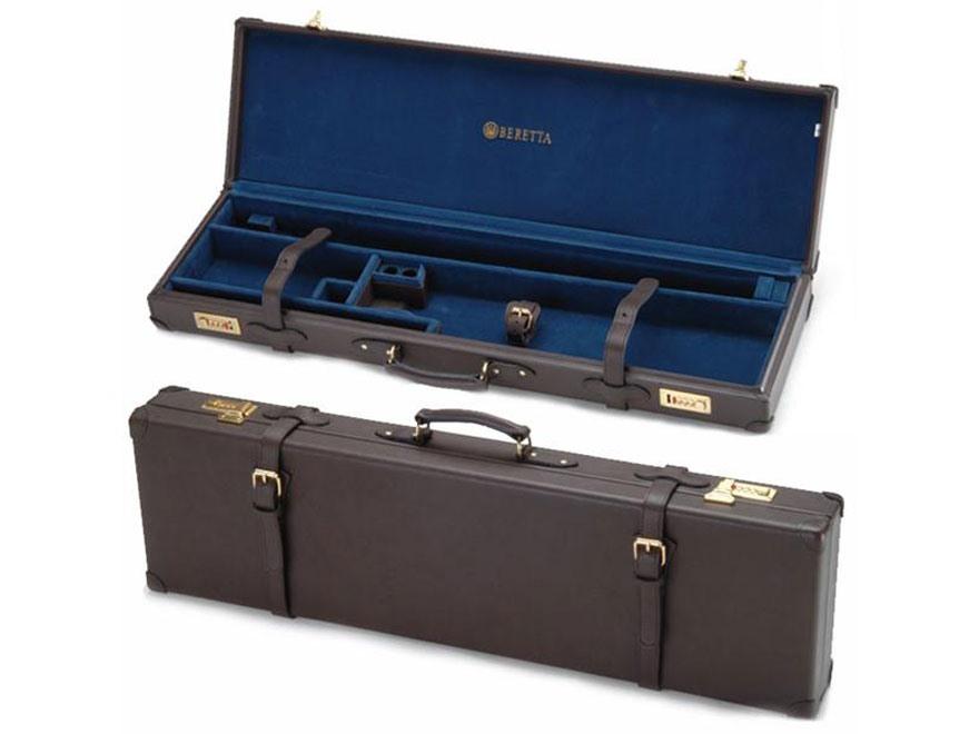 """Beretta Hard Leather Breakdown Shotgun Case 32"""" 2 Barrel Set Brown"""