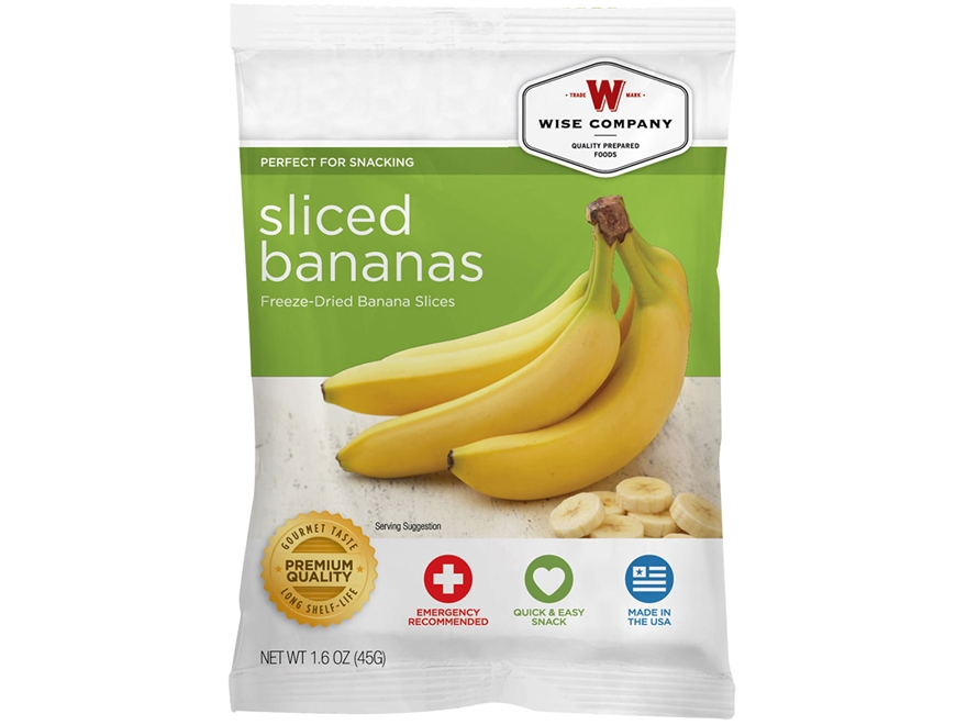 Wise Food Long Term 25 Year 4 Serving Sliced Bananas Freeze Dried Food