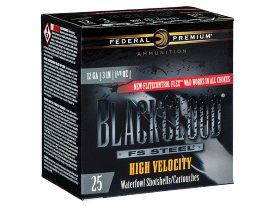 "Federal Premium Black Cloud High Velocity Ammunition 12 Gauge 3"" 1-1/8 oz #3 Non-Toxic ..."