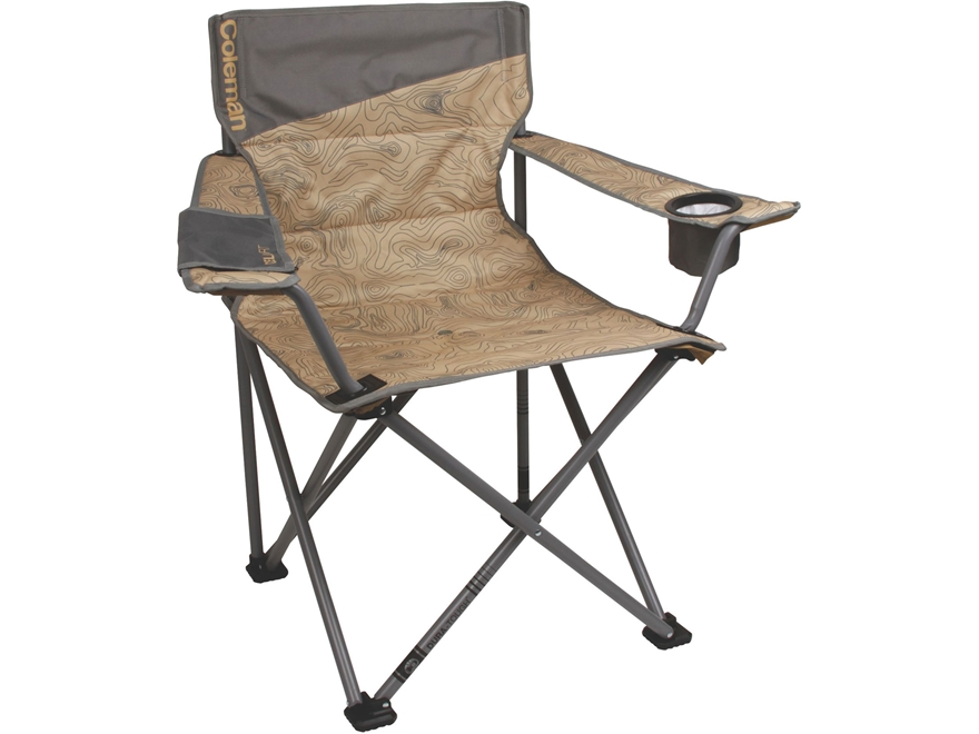 Coleman Big-N-Tall Quad Camp Chair Polyester and Steel Blue and Gray