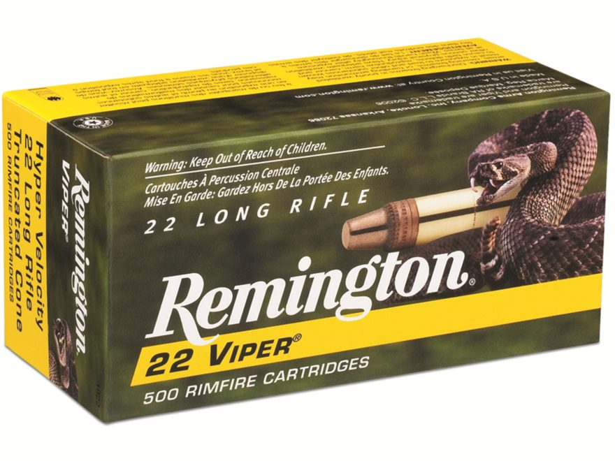 Remington Viper Hyper Velocity Ammunition 22 Long Rifle 36 Grain Plated Truncated Cone ...