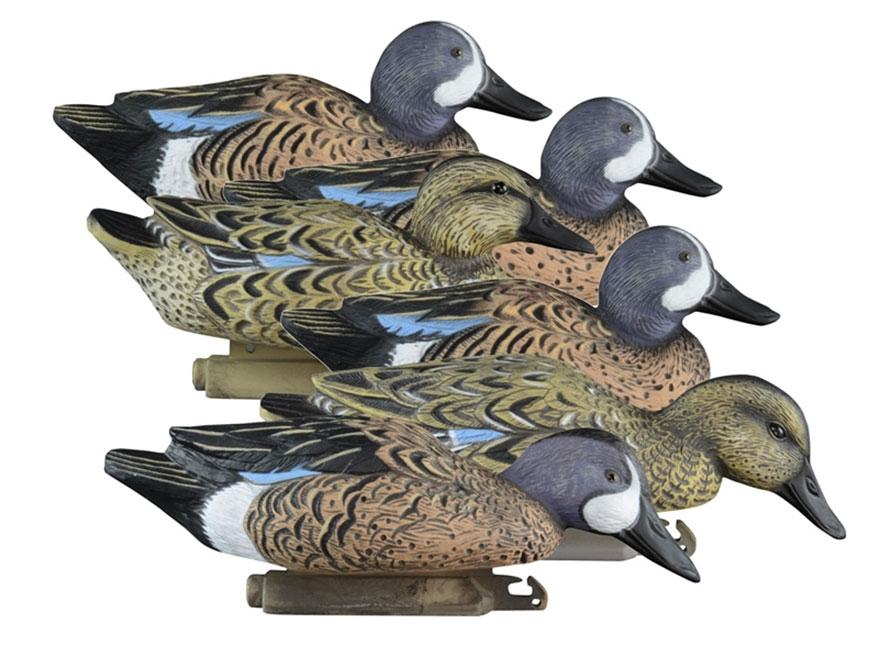 Higdon Standard Blue Wing Teal Duck Decoy Polymer Pack of 6
