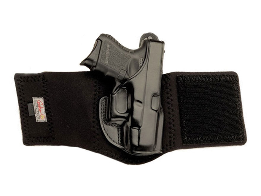 Galco Ankle Glove Holster Right Hand Glock 29, 30, 30S Leather with Neoprene Leg Band B...