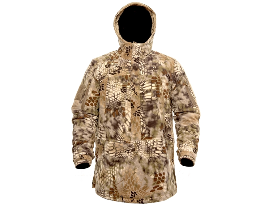 Kryptek Men's Anorak Insulated Fleece Jacket Polyester Highlander Camo