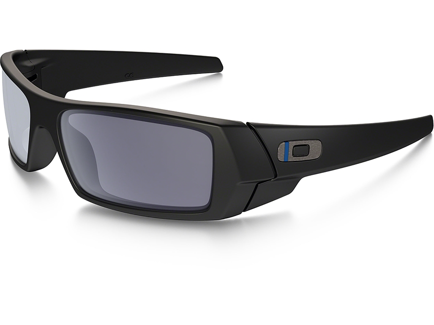 Oakley SI Gascan Thin Blue Line Sunglasses Black Frame/Gray Lens