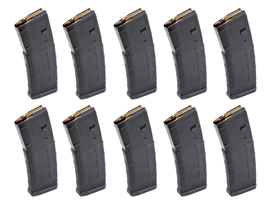Magpul PMAG M2 MOE Magazine AR-15 223 Remington, 5.56x45mm, 300 AAC Blackout 30-Round B...