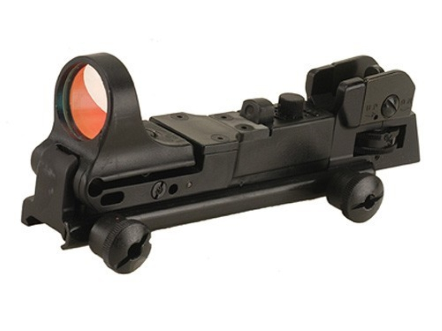 C-More Tactical Reflex Sight 8 MOA Red Dot with Adjustable Rear Sight and Click Switch ...