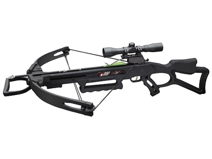 Carbon Express X-Force 350 Crossbow Package with 4x32 Multi-Reticle Scope Black