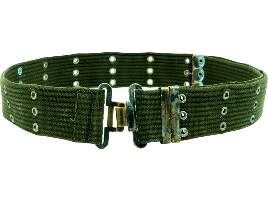 Military Surplus Belgian Combat Belt Grade 2 Olive Drab