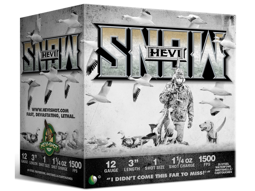 "Hevishot Hevi-Snow Waterfowl Ammunition 12 Gauge 3"" 1-1/4 oz #1 Non-Toxic Shot"