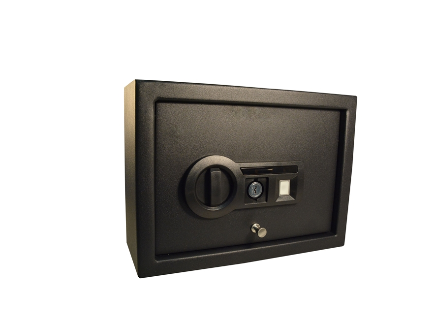 Stack-On Pistol Drawer Safe with Biometric Lock Black