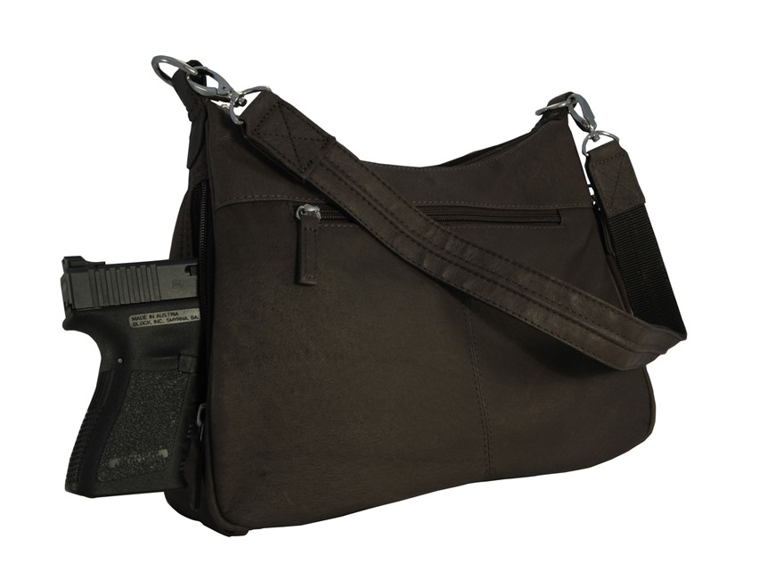 Gun Tote'N Mamas Basic Hobo Concealed Carry Holster Handbag Small Frame Firearms Leather