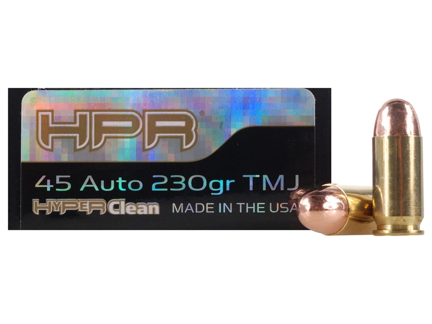HPR HyperClean Ammunition 45 ACP 230 Grain Total Metal Jacket Box of 50