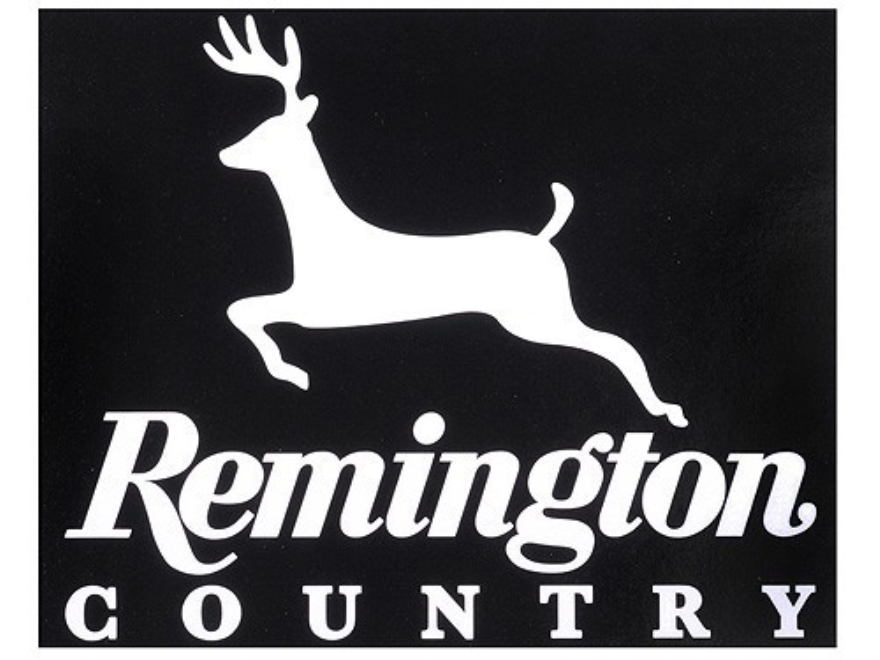 Remington Country Deer Decal White