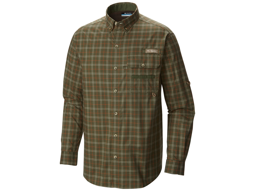 Columbia Men's Super Sharptail Button-Up Shirt Long Sleeve Cotton