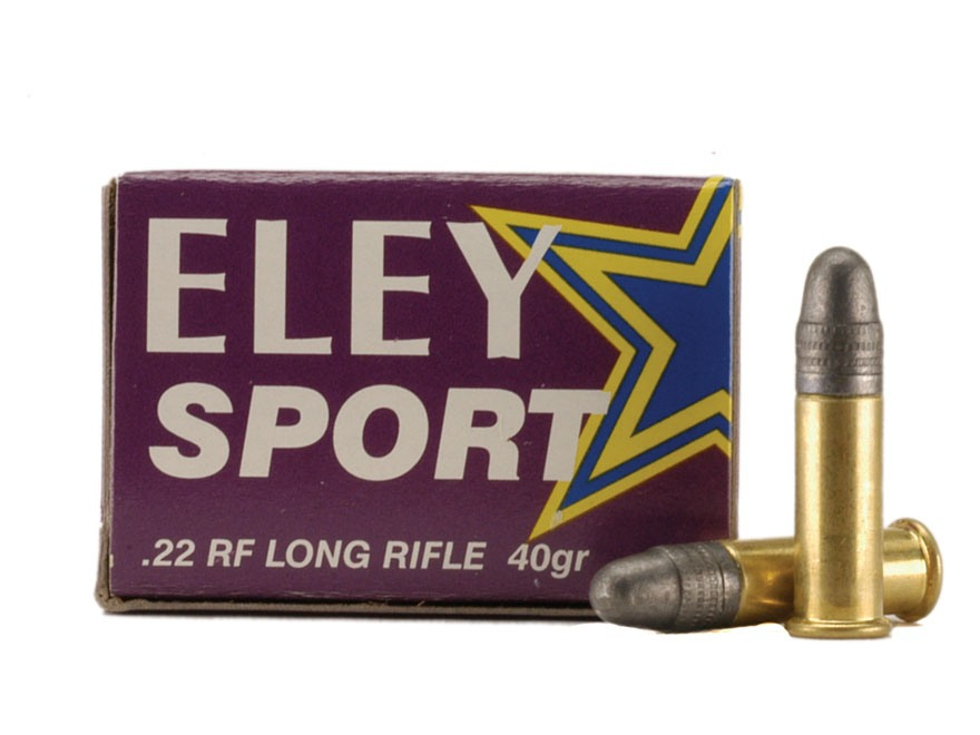 Eley Sport Ammunition 22 Long Rifle 40 Grain Lead Round Nose Box of 50