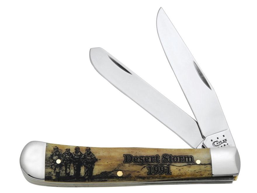 Case Image Xx War Desert Storm Trapper Folding Knife Clip