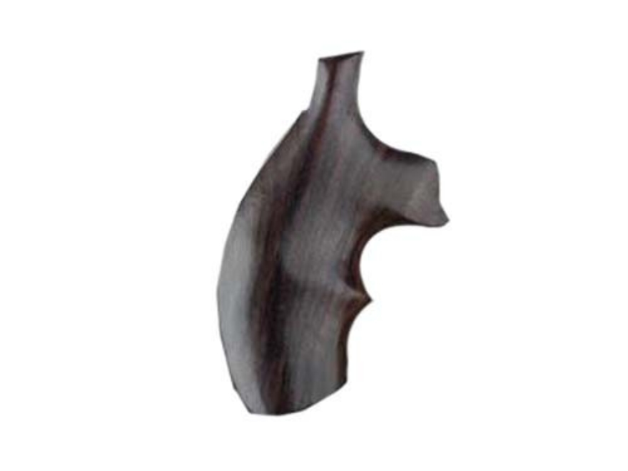 Hogue Fancy Hardwood Grips with Top Finger Groove S&W J-Frame Round Butt