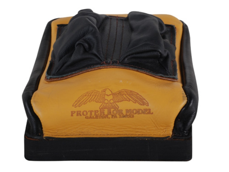 Protektor Custom Bumble Bee Dr Bunny Ear Rear Shooting Rest Bag Leather Tan Unfilled