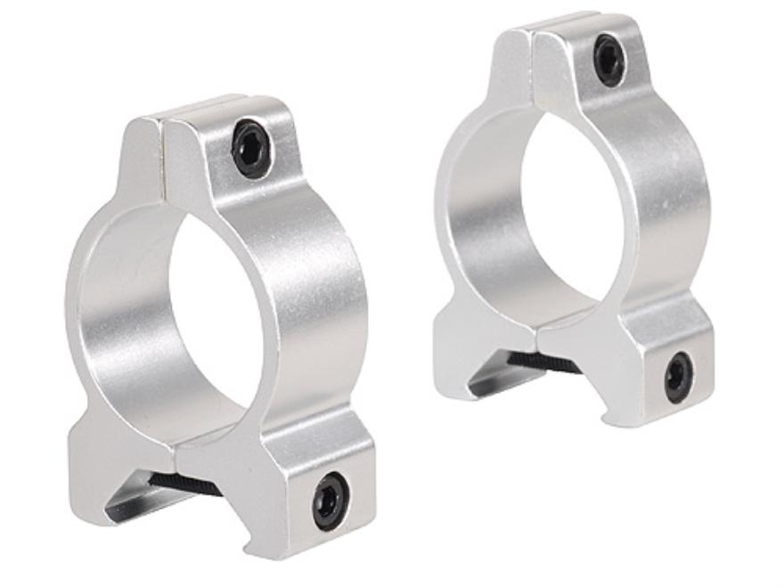 """Millett 1"""" Angle-Loc Vertical Split Rings Weaver-Style Silver Medium"""