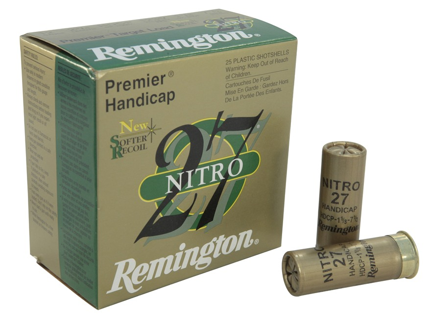 "Remington Premier Nitro 27 Gold Handicap Ammunition 12 Gauge 2-3/4"" 1-1/8 oz #7-1/2 Shot"