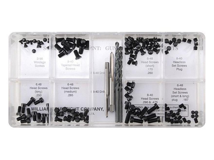 Williams Gunsmith Screw Kit Steel Black Pack of 122