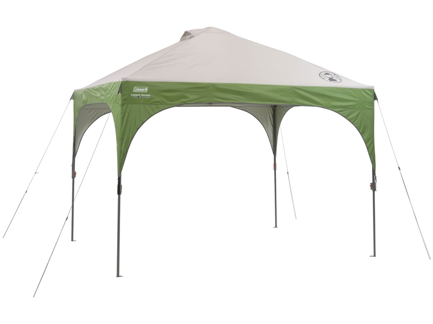 "Coleman 120"" x 120"" Instant Shelter Green and White"