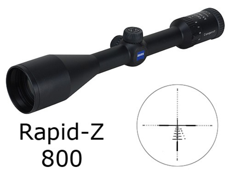 Zeiss MC Conquest Rifle Scope 3.5-10x 50mm Rapid Z 800 Reticle Matte