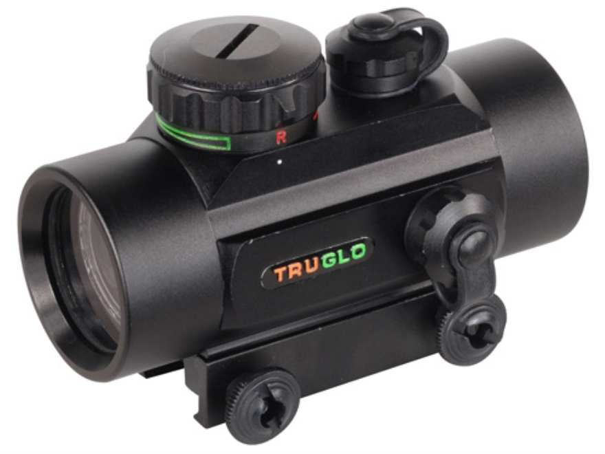 TRUGLO Red Dot Sight 30mm Tube 1x 5 MOA Red and Green Dot Reticle with Integral Weaver-...