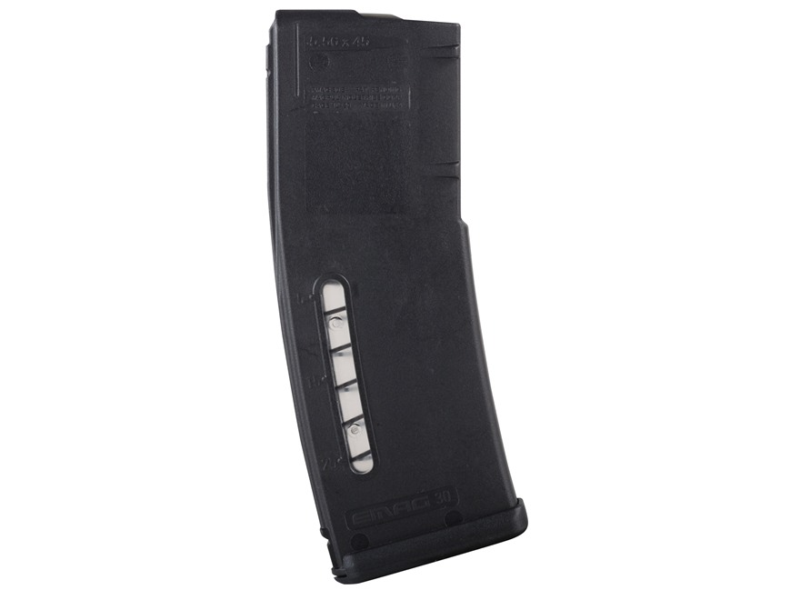 Magpul Emag Magazine AR-15, HK 416, SA-80 223 Remington, 5.56x45mm 30-Round Polymer Black