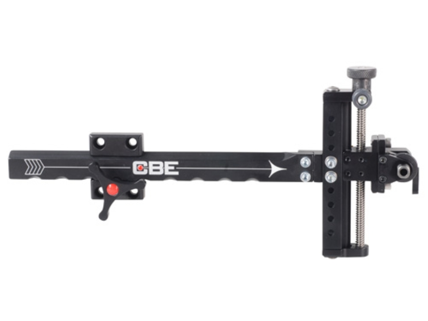 Custom Bow Equipment Quad Lite Target Adjustable Bow Sight Aluminum Black