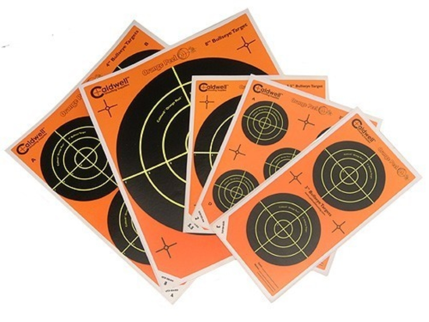 "Caldwell Orange Peel Targets Self-Adhesive Bullseye Variety Pack (4-4"", 1-8"", 1-5.5"", 2..."