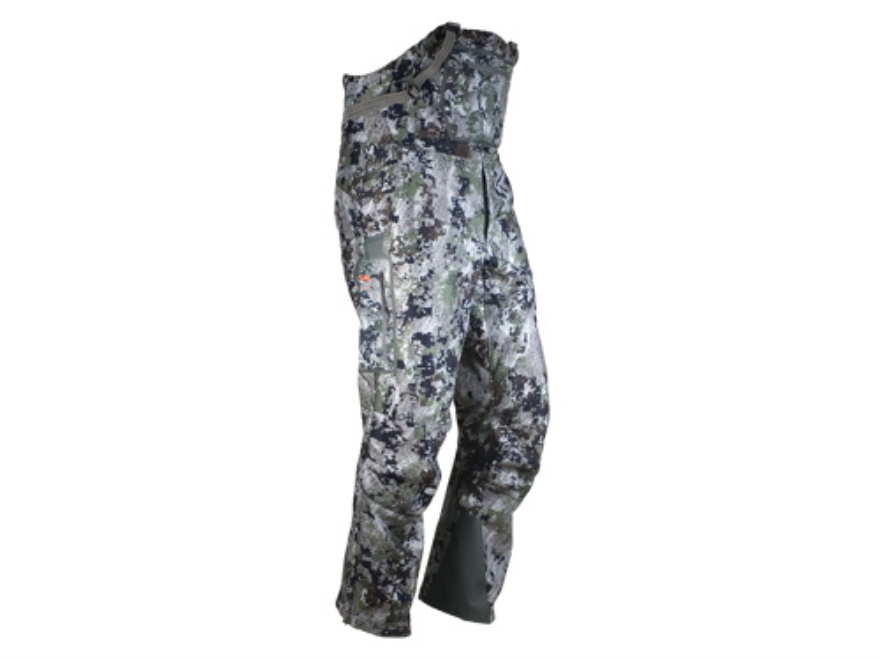 Sitka Gear Men's Stratus Bibs Polyester Gore Optifade Elevated Forest Camo Large 34-37