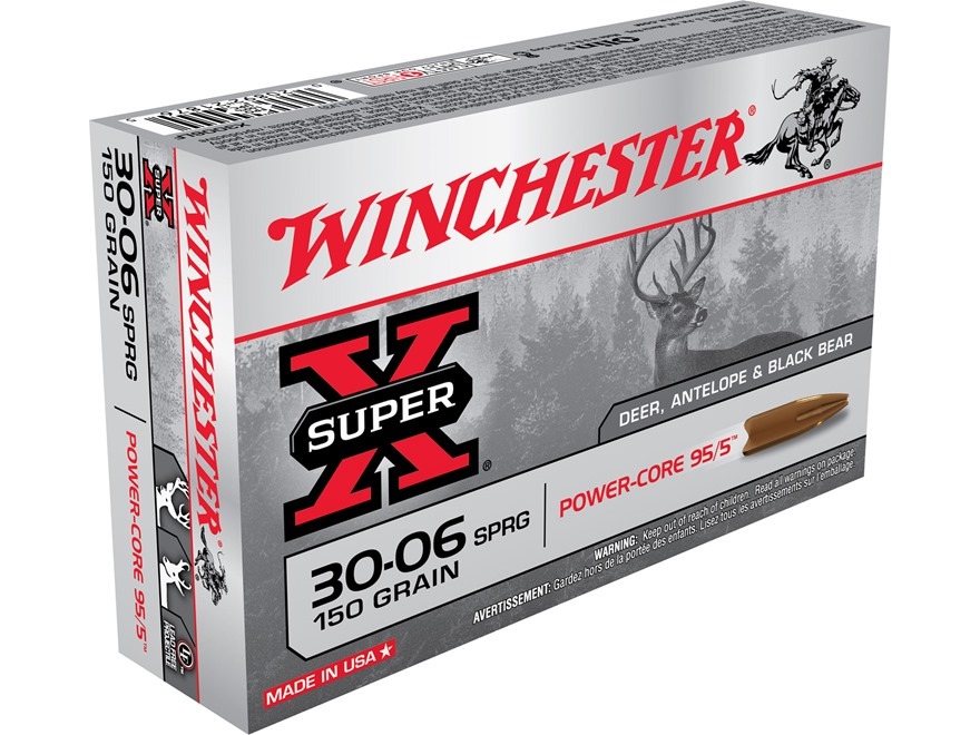 Winchester Super-X Power-Core 95/5 Ammunition 30-06 Springfield 150 Grain Hollow Point ...
