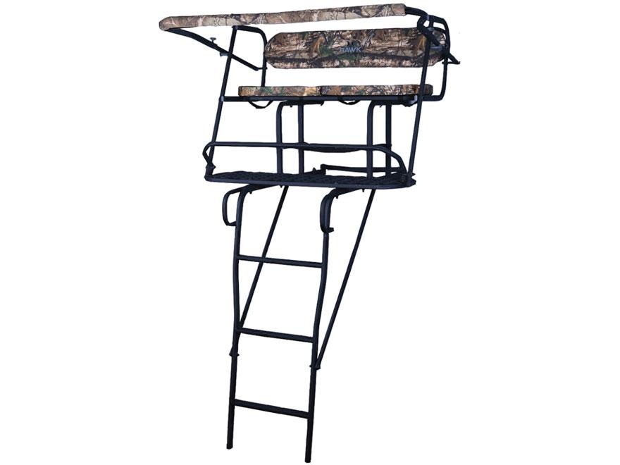 Hawk 17' Co-Pilot Double Man Ladder Treestand Steel Black