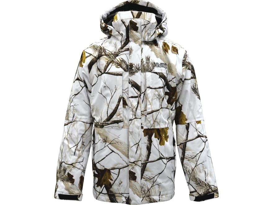 MidwayUSA Men's Mackenzie Mountain Signature Parka Realtree AP Snow Camo Medium