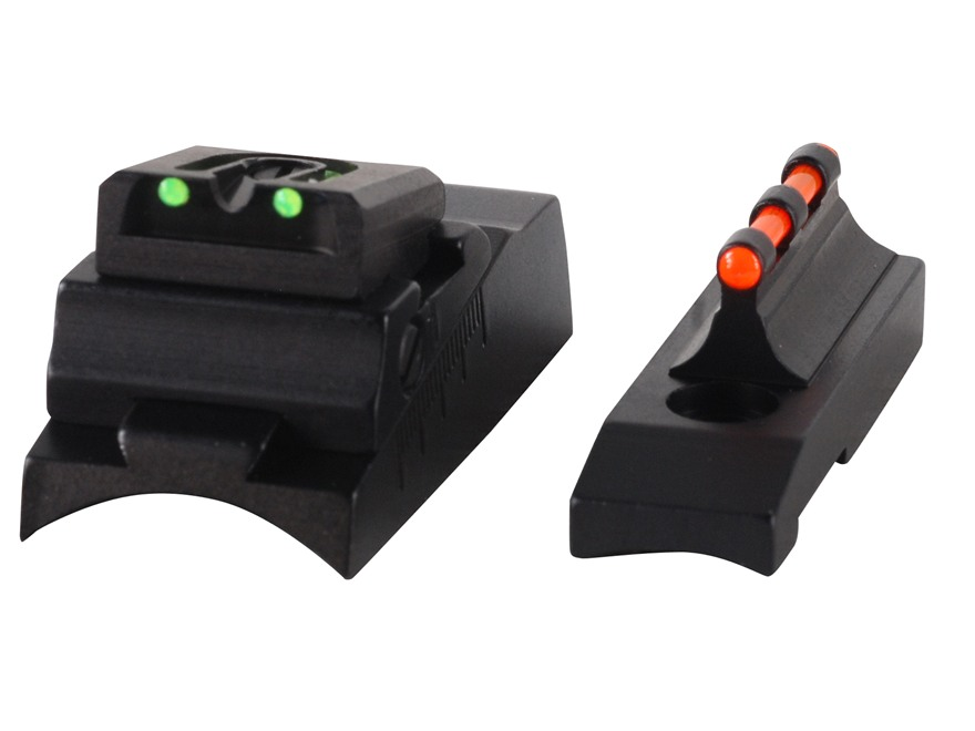 Williams Fire Sight Set CVA with Round Barrel Aluminum Black Fiber Optic Green