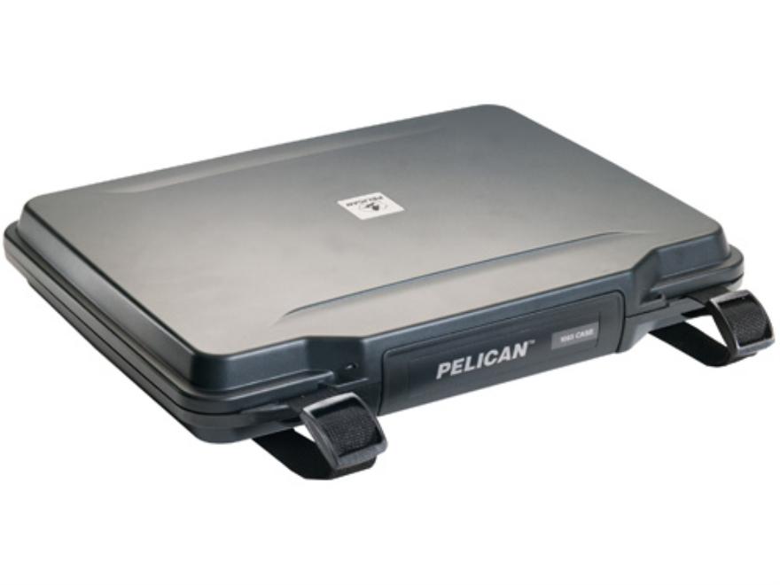 "Pelican 1085 HardBack Laptop Case with Pick-N-Pluck Foam and Carry Strap 14"" Polymer Black"