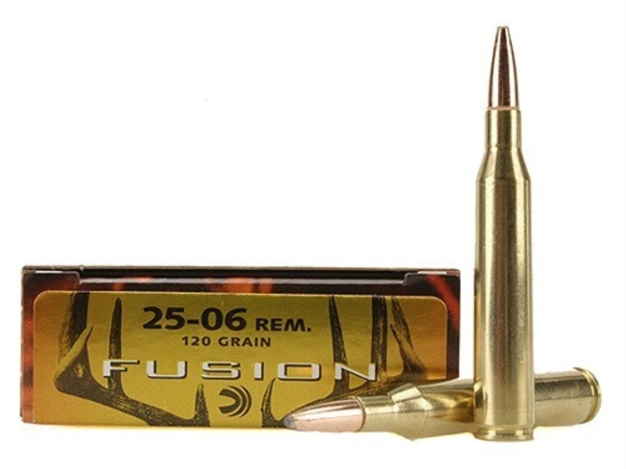 Federal Fusion Ammunition 25-06 Remington 120 Grain Spitzer Boat Tail Box of 20