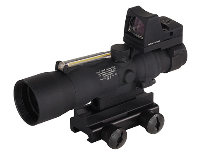 Trijicon ACOG TA33-RMR BAC Rifle Scope 3x 30mm Dual-Illuminated Amber Horseshoe Dot 223...