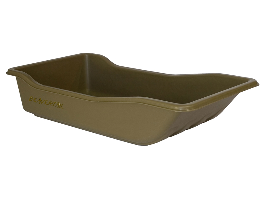 Beavertail Sport Sled Decoy Sled Polyethylene Marsh Brown