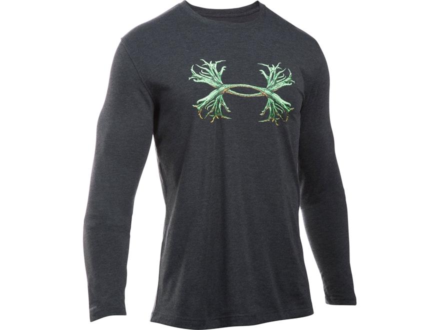 Under Armour Men's UA Antler Logo T-Shirt Long Sleeve Poly/Cotton Blend