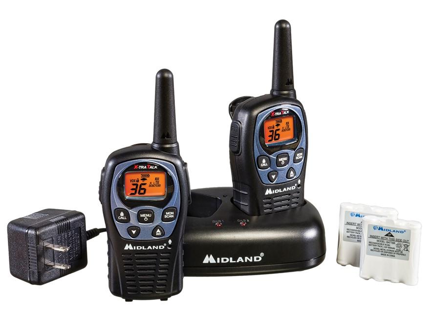 Midland LXT560VP3 Two-Way Radio with NOAA Weather Alert Combo