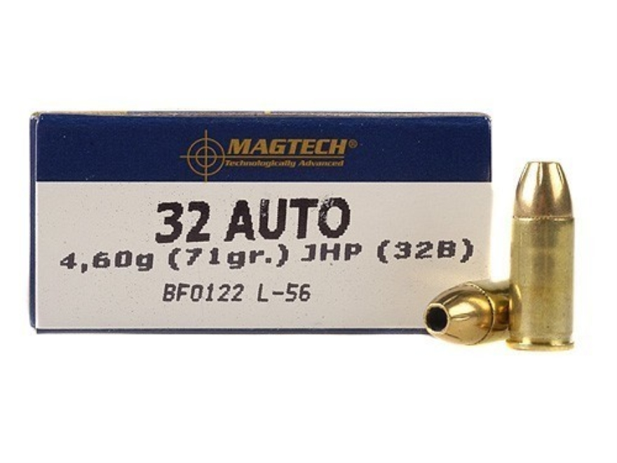 Magtech Sport Ammunition 32 ACP 71 Grain Jacketed Hollow Point