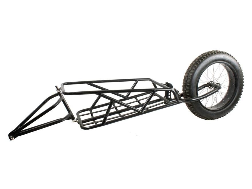 QuietKat Motorized FatKat Bike Single Track Fat Tire Cargo Trailer Steel Black