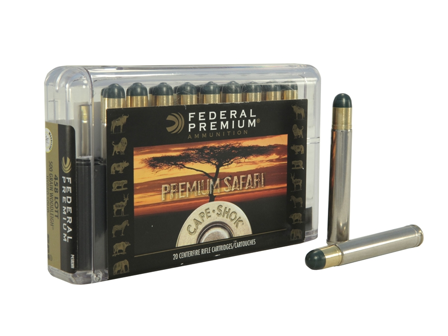 Federal Premium Cape-Shok Ammunition 458 Lott 500 Grain Woodleigh Hydrostatically Stabi...