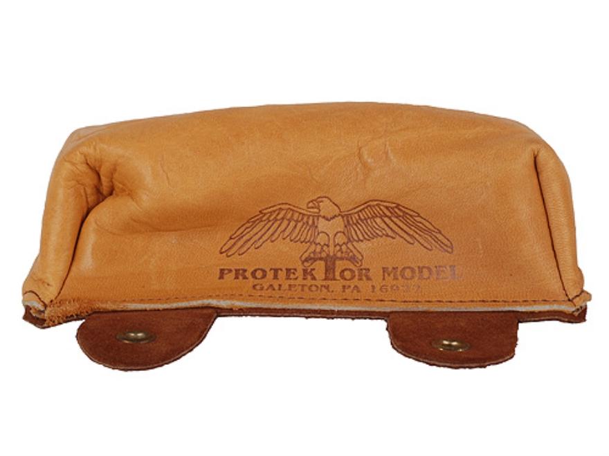 Protektor Sausage Front Shooting Rest Bag Leather Tan Unfilled