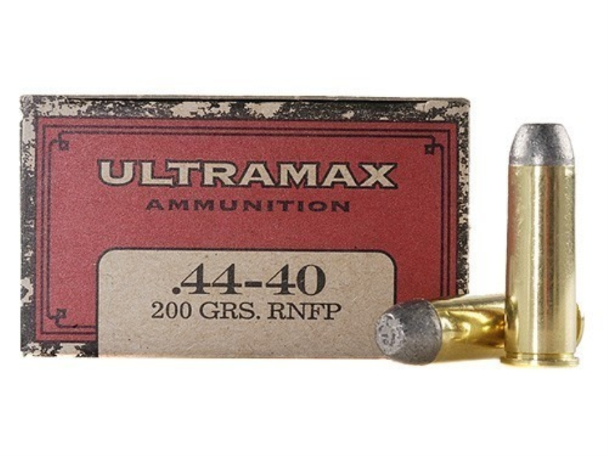Ultramax Cowboy Action Ammunition 44-40 WCF 200 Grain Lead Flat Nose Box of 50